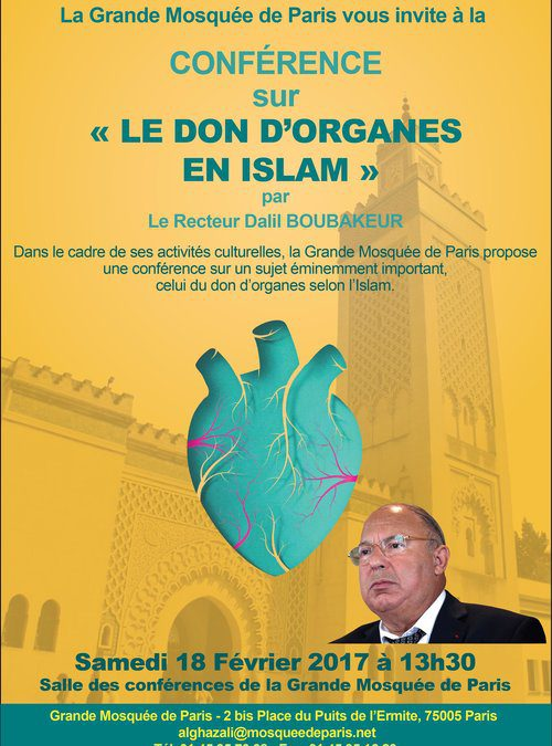 Conférence : Le don d'organe en Islam