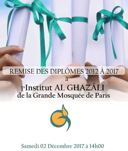 La cérémonie de remise des diplômes présidée par le Dr Dalil BOUBAKEUR 2017