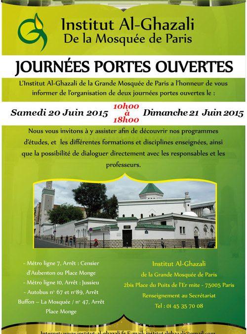 Journées portes ouvertes INSTITUT AL GHAZÂLI 2015