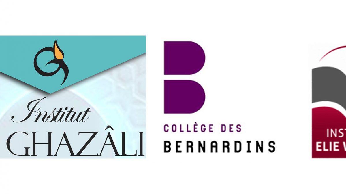 Cycle de conférences en collaboration avec les instituts Al Ghazali, Elie Wiesel et le Collège des Bernardins
