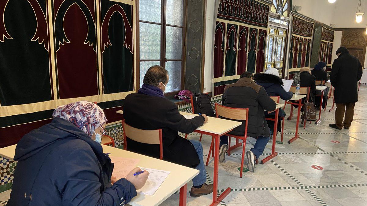 Session d'examens à l'institut